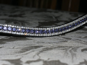 Tanzanite and clear browband