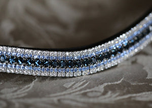 Montana, light sapphire and clear megabling curve browband