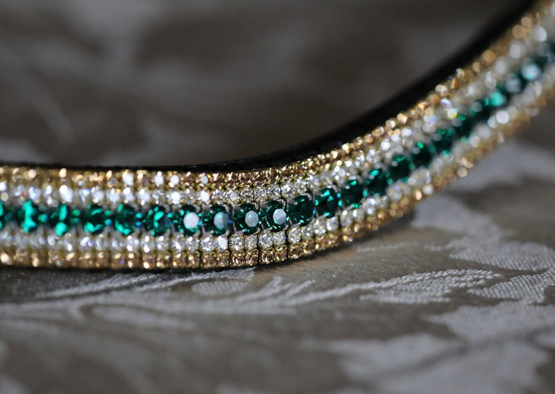 Emerald, clear and light colorado megabling curve browband