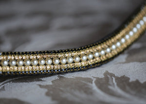 Pearl, light colorado and jet megabling curve browband