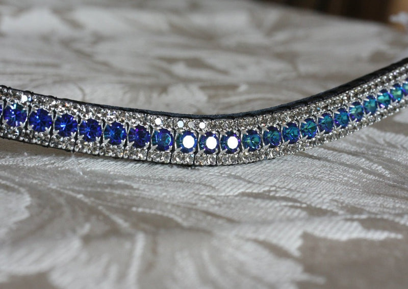 Bermuda blue and black diamond browband