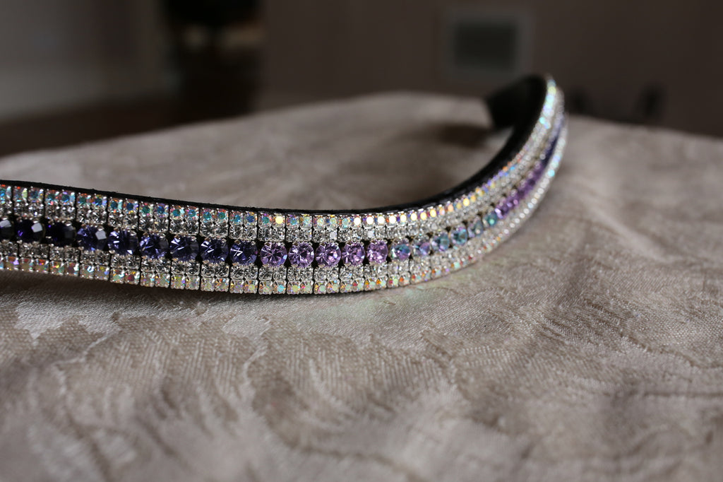 Tiffany purple fade megabling curve browband