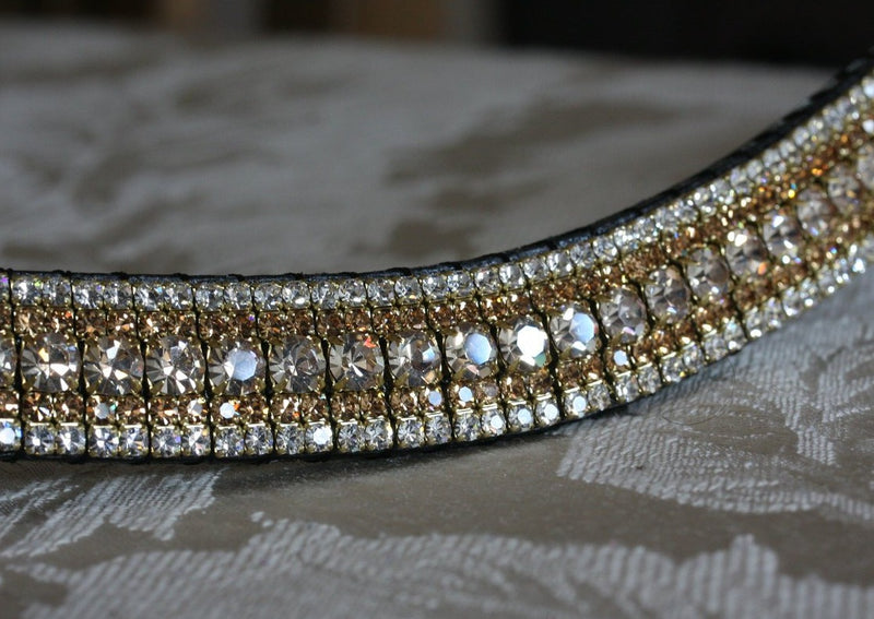 Honey, light colorado and clear megabling curve browband