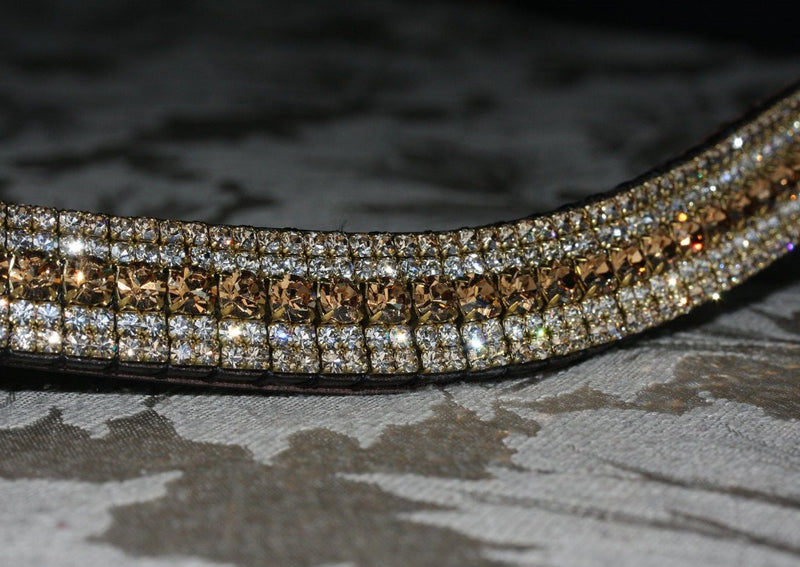 Light colorado, clear and honey megabling curve browband