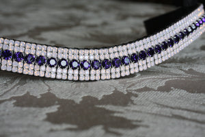 Purple velvet and rose opal megabling curve browband