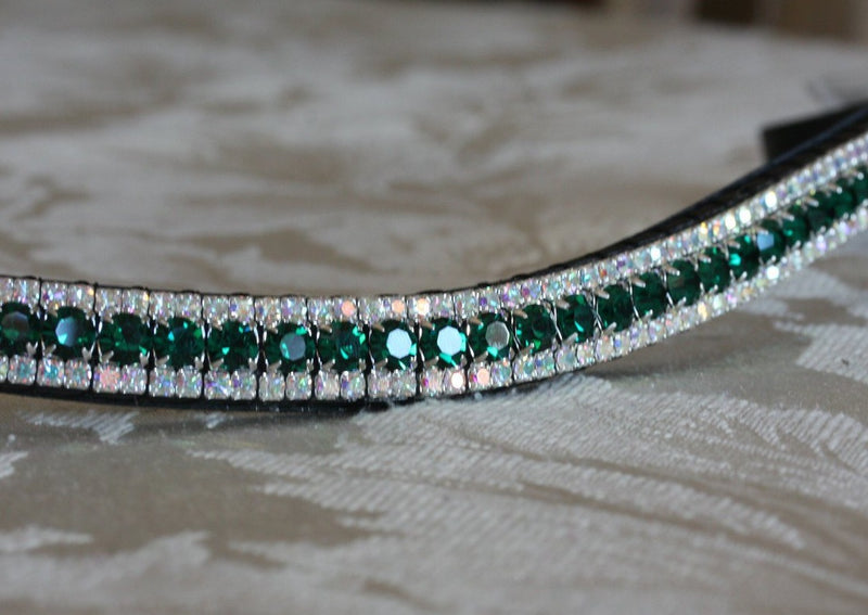 Emerald and iridescent browband