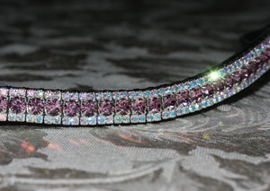 Light Amethyst and iridescent browband