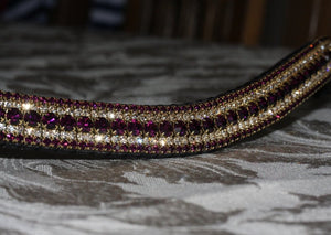 Amethyst and honey megabling curve browband