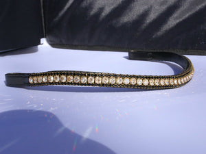 Golden honey and jet browband