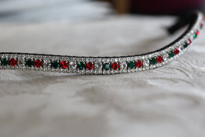 Custom alternating 3 colour browband