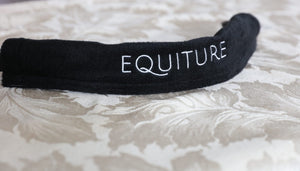 Jet and clear antique curve browband