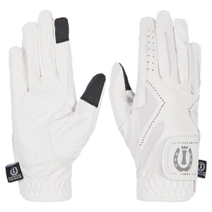Imperial riding white crystal riding gloves
