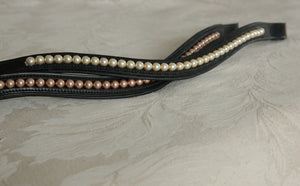 Custom Pearl inset Curve Browband