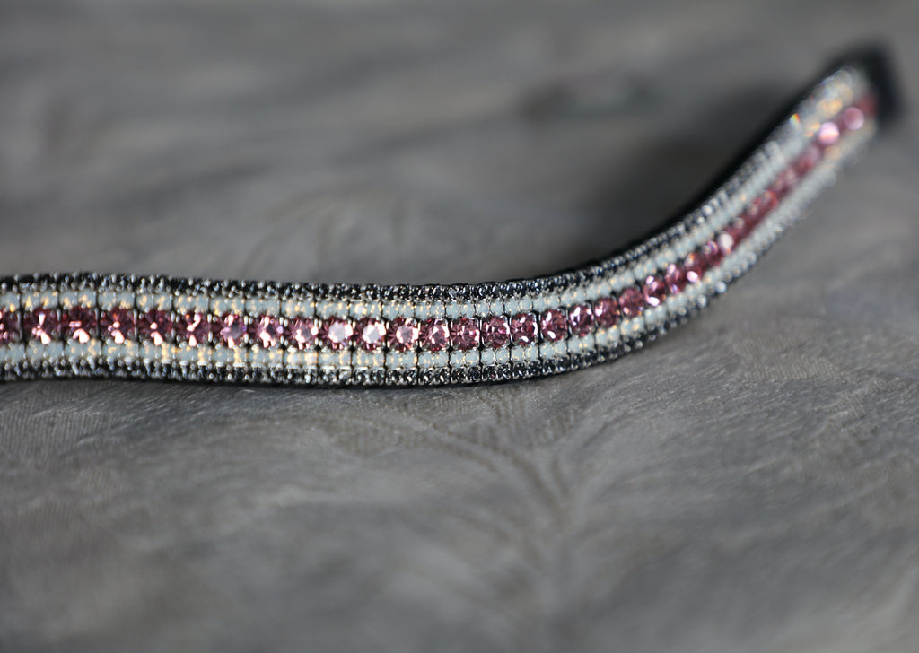 Light rose, opal and nightfall megabling curve browband