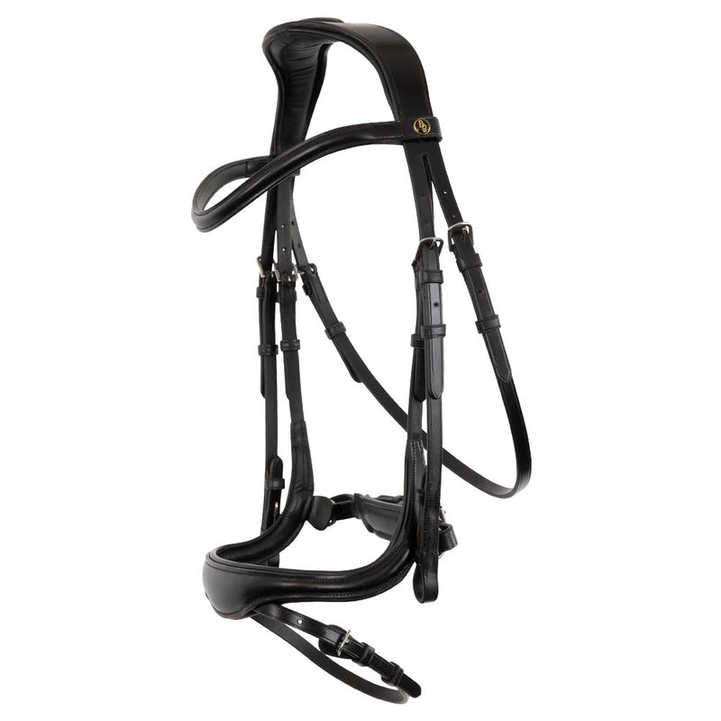 BR Longridge Bridle with plain leather browband
