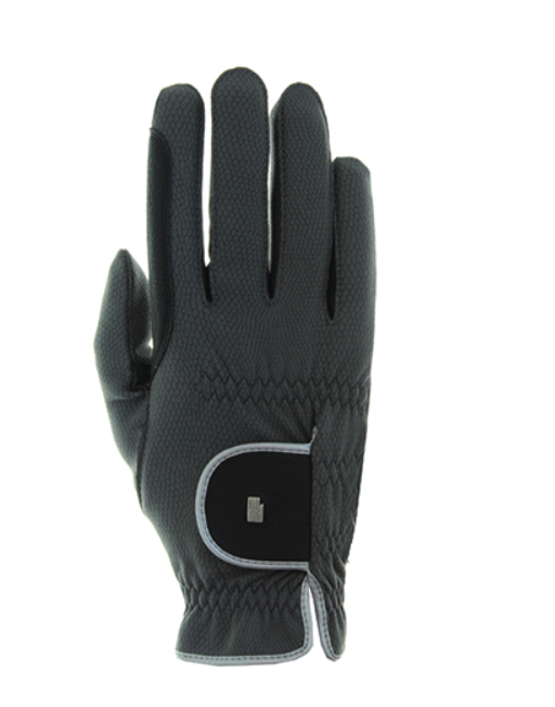 Roeckl Malta winter anthracite and silver riding gloves