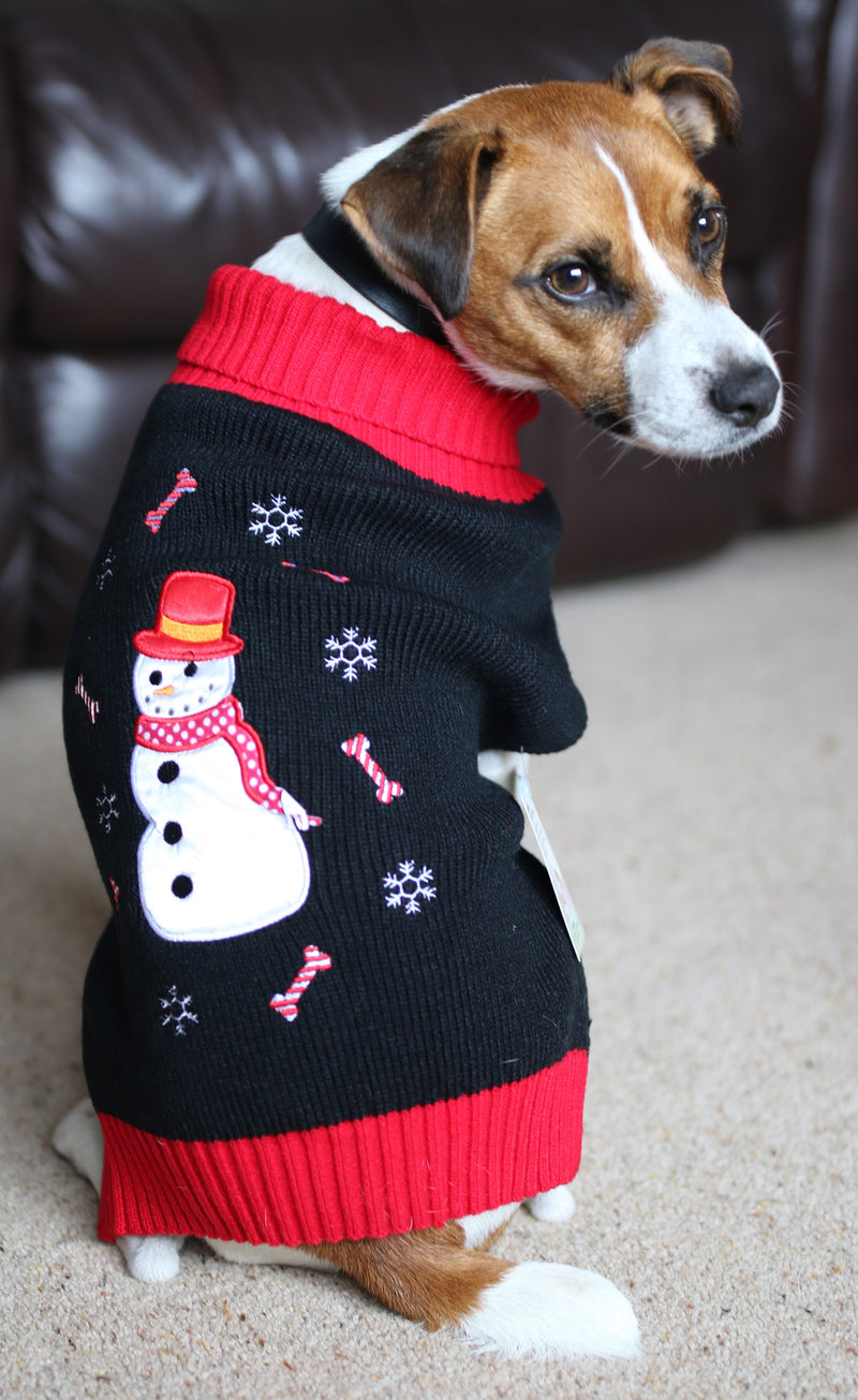 Candy Bone Snowman Jumper