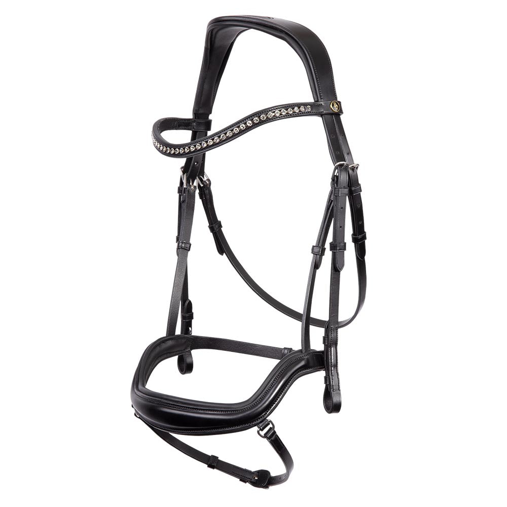 BR Stanley Bridle with black diamond inset Browband