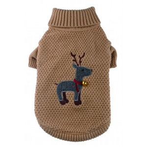 Tweed Reindeer Sweater