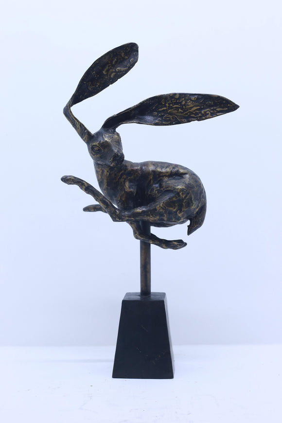 Bronze Hare Sculpture - KKC Boutique