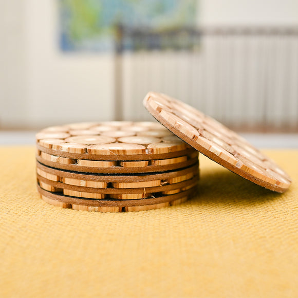 Wooden Coasters-Set of 06