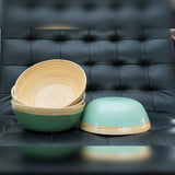 Bamboo & lacquer bowls