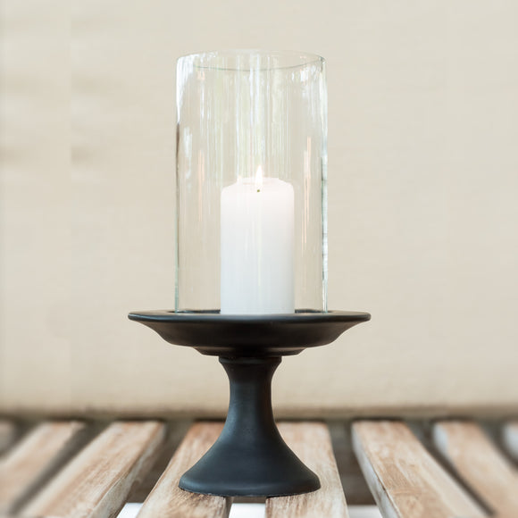 Wooden Candlestand  - Black