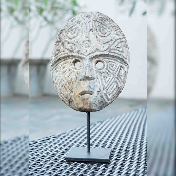 Carved Mask On Stand