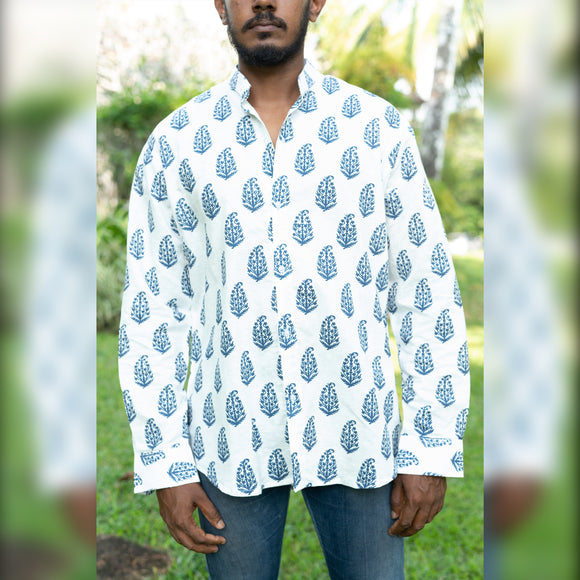 KK Linen Shirt Printed Long sleeved