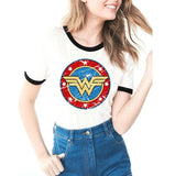 Summer Tops 2018 Hot Anime Wonder Woman Printed T-shirt Lovelty Cartoon Funny Tee Shirt Femme Short Sleeve Casual Ladies Tees