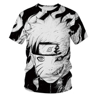 Casual Hip Hop Womens/Mens t shirt Anime Naruto Akatsuki Short Sleeve Funny 3D Print T-Shirt Summer Tops Tees S-2XL