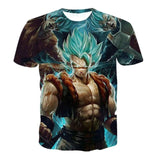 Super Saiyan 3D T Shirt Anime Dragon Ball Z Goku Summer Fashion Tee Tops Men / Boys Master Roshi Print Cartoon T-shirt Plus Size
