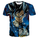 2019 new men and women personality anime Dragon Ball Z 3D printing T-shirt cool fashion comfortable short-sleeved creative shirt