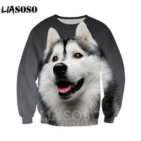 Anime women Harajuku vest Siberian Husky dog shorts 3D Print streetswear T shirt/Hoodies/Sweatshirt kids zipper men tshirt E654