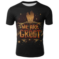Summer Groot tshirts Harajuku Anime T-Shirts Short Sleeve Casual Male casual T shirt men Marvel streetwear fashion clothes tops