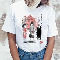 Spirit Away Studio Ghibli Japanese Anime Totoro Miyazaki Hayao Anime t shirt tshirt t-shirt women female femme cartoon clothes