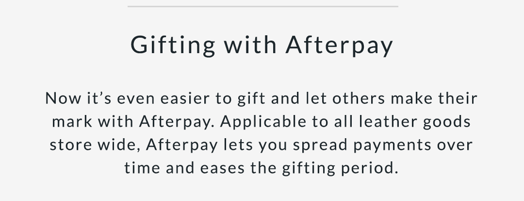 Gifting with Afterpay