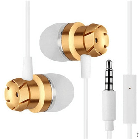 Metal In-ear Earphones Heavy Bass In-line control Earphone