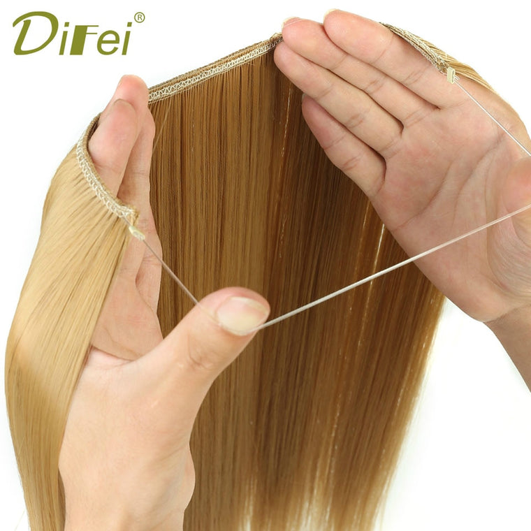 Women Fish Line Hair Extension