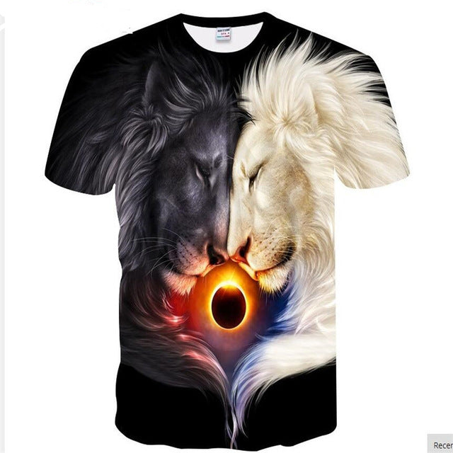 3D print lightning lion cool t-shirt