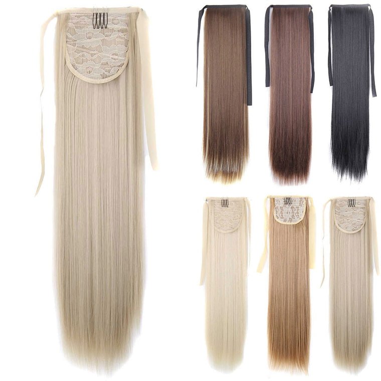 Silky Straight Synthetic Clip Hair Extension