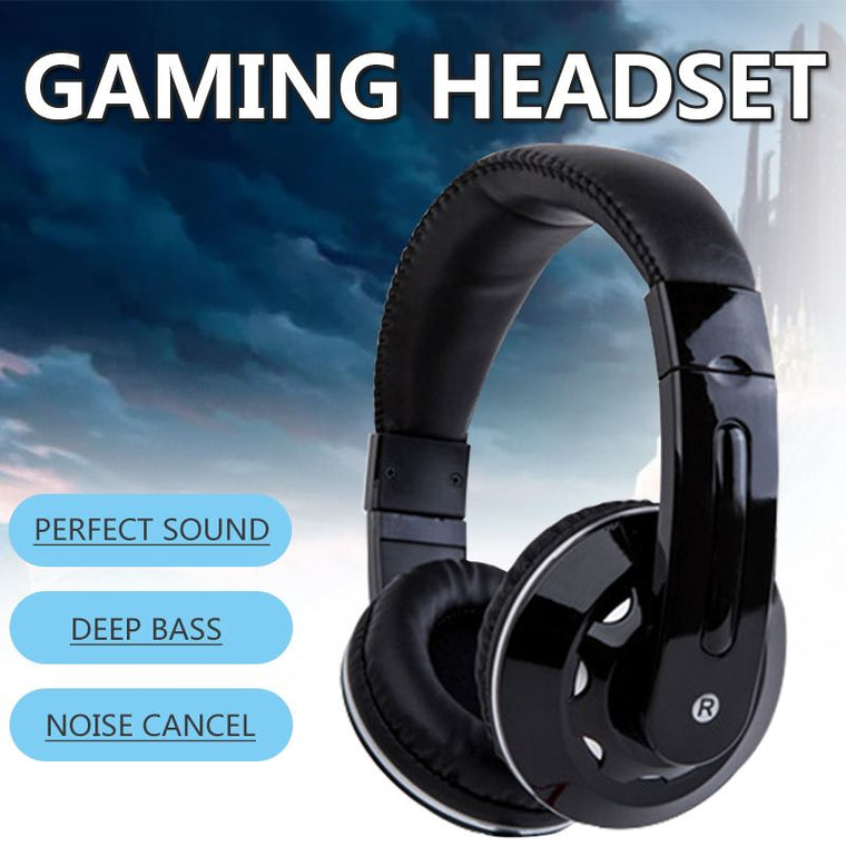 Gaming Headset Wired PC Stereo Earphones