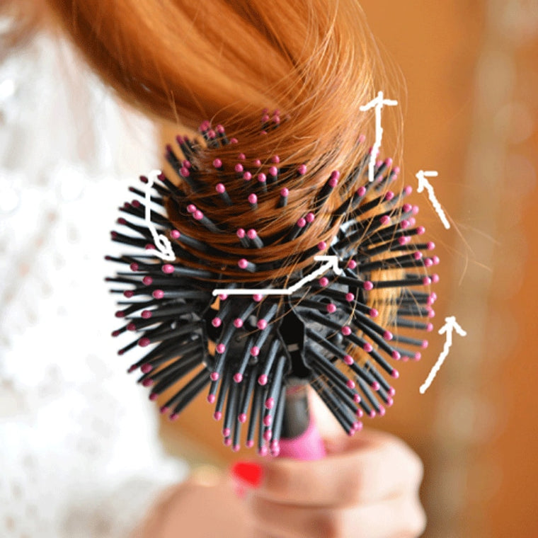 3D spherical comb hairbrush professional salon  hair comb