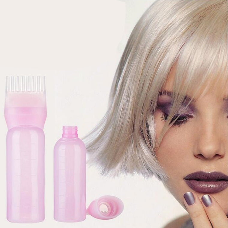 Root Comb Applicator Bottle Hair Dye Bottle With Combs Hair Color Styling