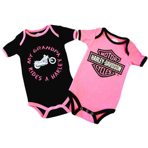 Baby Girls' Grandpa Rides A Harley Creeper 2-Pack 1103054