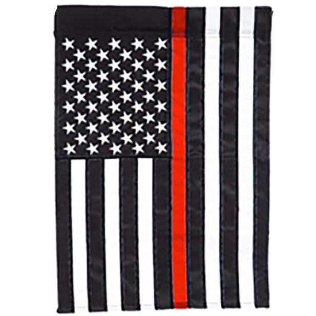 Red Line Garden Applique Flag EG-168822
