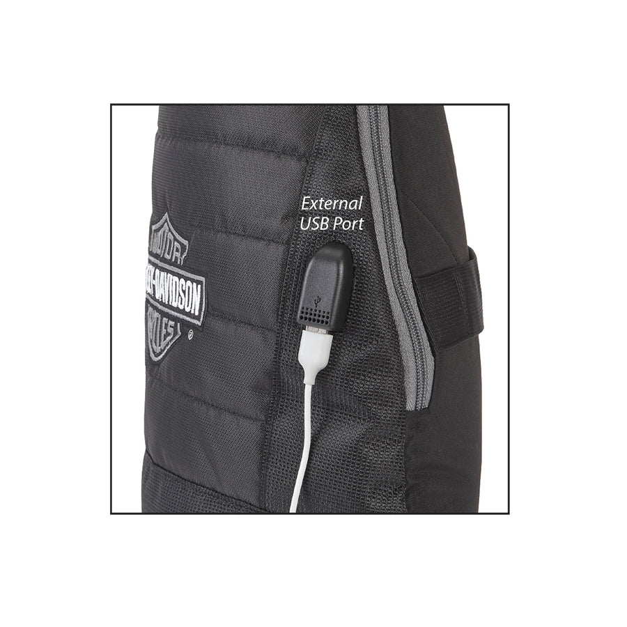 Number 1 Deluxe Quilted USB Port Travel Sling 90821