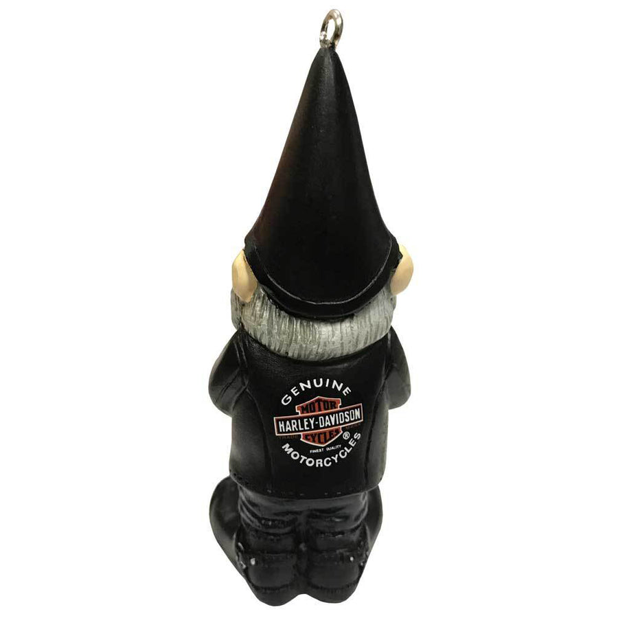 Sculpted Male Biker Gnome Hanging Ornament EG-3OT4902GM