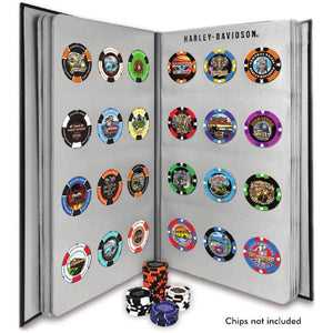 Collector's 96 Ct. Poker Chip Leather Grain Album 6696