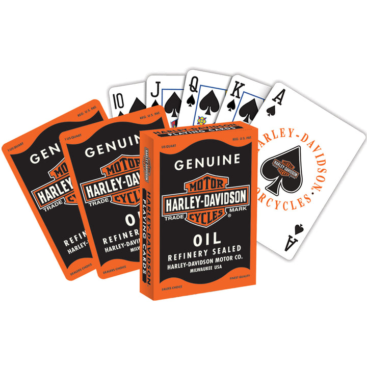 Harley-Davidson Playing Cards - Oil Can